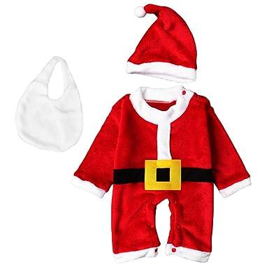 77ed5e34a3a05 Fenteer Père Noël Barboteuse Pour Bébé avec Chapeau  Amazon.fr ...