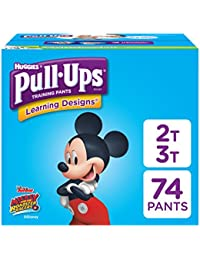 Learning Designs Training Pants for Boys, 2T-3T, 74 Count...