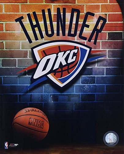 2008-09 Oklahoma Thunder Team Logo Art Print, 8 x 10 inches