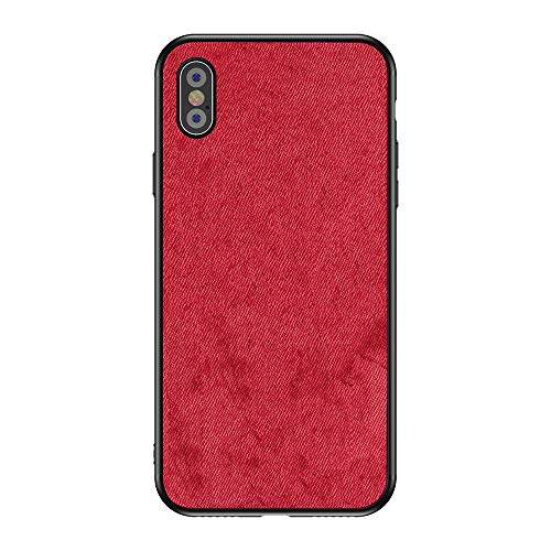 Fabric Back Cover - Diaxbest iPhone Xs Max Case, Fabric Back Cover Shockproof Protective Phone Case Full TPU Soft Edges Great Grip Compatible Apple iPhone Xs Max 6.5