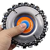 Sasonco Wood Carving Disc Woodworking Chain Plate Angle Grinding Chain Wheel Grinder Disc Chain Plate Grinding Wheel Disc 22 Tooth Fine Cut Carving Chainsaw Blade Set for 100/115 mm Angle Grinder Grinder Center Hole Woodwork Circular Saw Blades