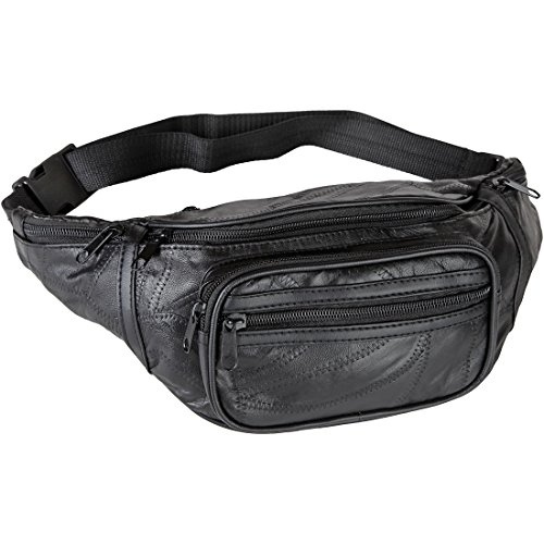 Home-X Genuine Leather Lambskin Waist Bag, Fanny (Leather Photo Pack)