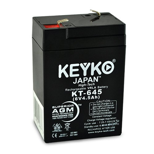 (Casil for BP4-6 6v 4.5 6V 4.5Ah SLA Sealed Lead Acid AGM Rechargeable Replacement Battery Genuine KEYKO (W/F1 Terminal))