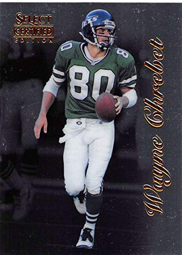 1996 Select Certified Football #24 Wayne Chrebet New York Jets Official NFL Trading Card From Pinnacle
