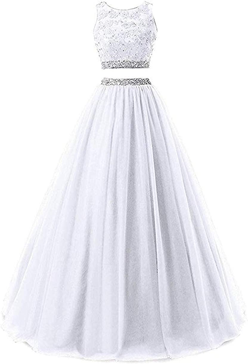 Huifany Two Piece Tulle Prom Dress Appliques P Lace Louisville-Jefferson trend rank County Mall Evening Long