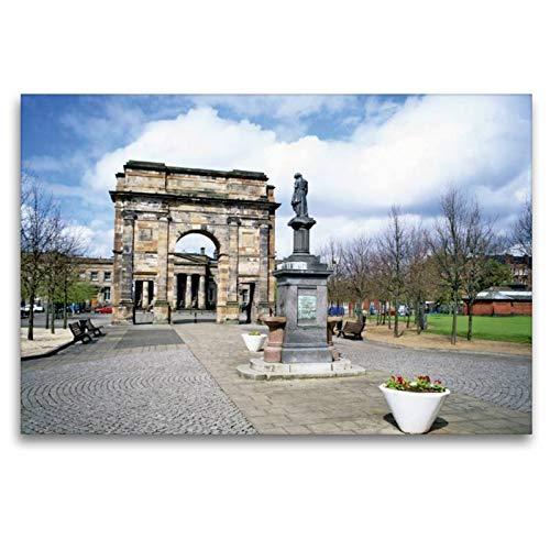 Premium Textil de lienzo 45cm x 30cm Horizontal de la McLennan equipo de arco en el parque Glasgow Green, 120 x 80 cm por CALVENDO