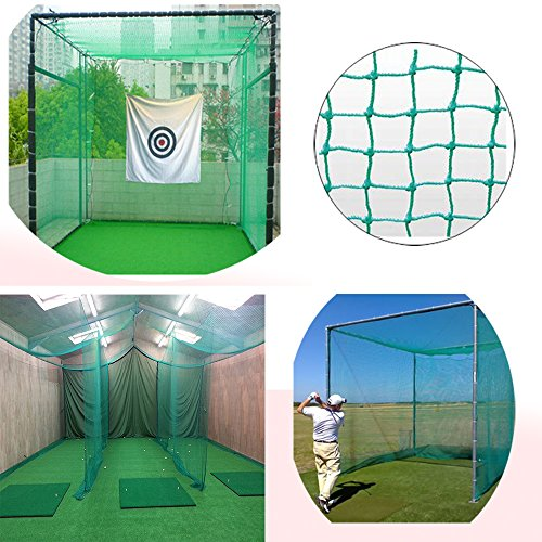 10' High X 10' Wide Golf Barrier & Containment Netting, For Golf Baseball Softball Hockey Lacrosse Soccer Basketball Tennis Multipurpose-Free 100pcs Zip Ties Cable by Kofull (Image #2)