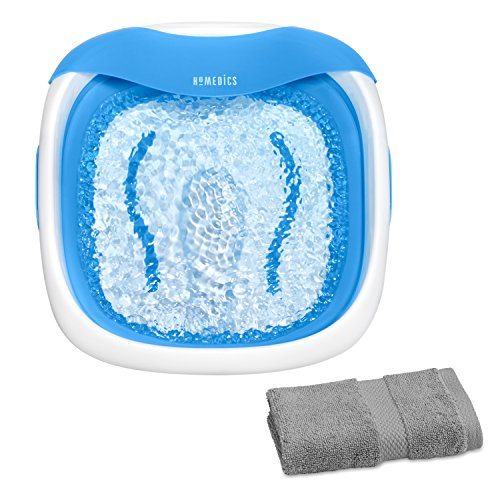 Ultra Pedicure Foot Spa (HoMedics Compact Pro Collapsible Foot Spa Bath Foot Vibration Massage with Heat with Wash Cloth)