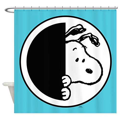 CafePress - Snoopy Blue And White - Decorative Fabric Shower Curtain (69