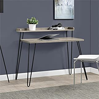 Ameriwood Home Haven Retro Desk Riser, Weathered Oak