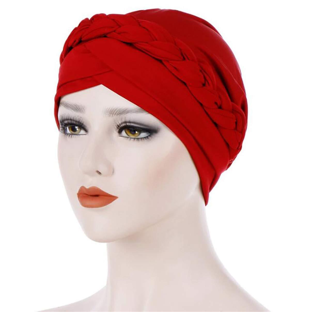 1ae2727a9 Amazon.com: Essencedelight Turban Hat Head Wrap Cap Solid Color ...