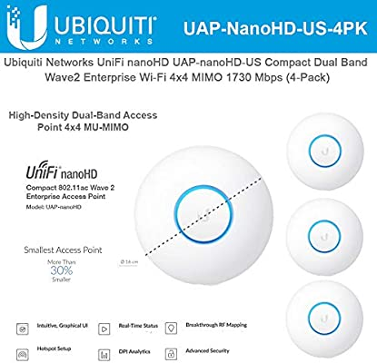 Ubiquiti UAP-NANOHD-US UniFi nanoHD 802.11AC Wave 2 Dual-Band Access Point
