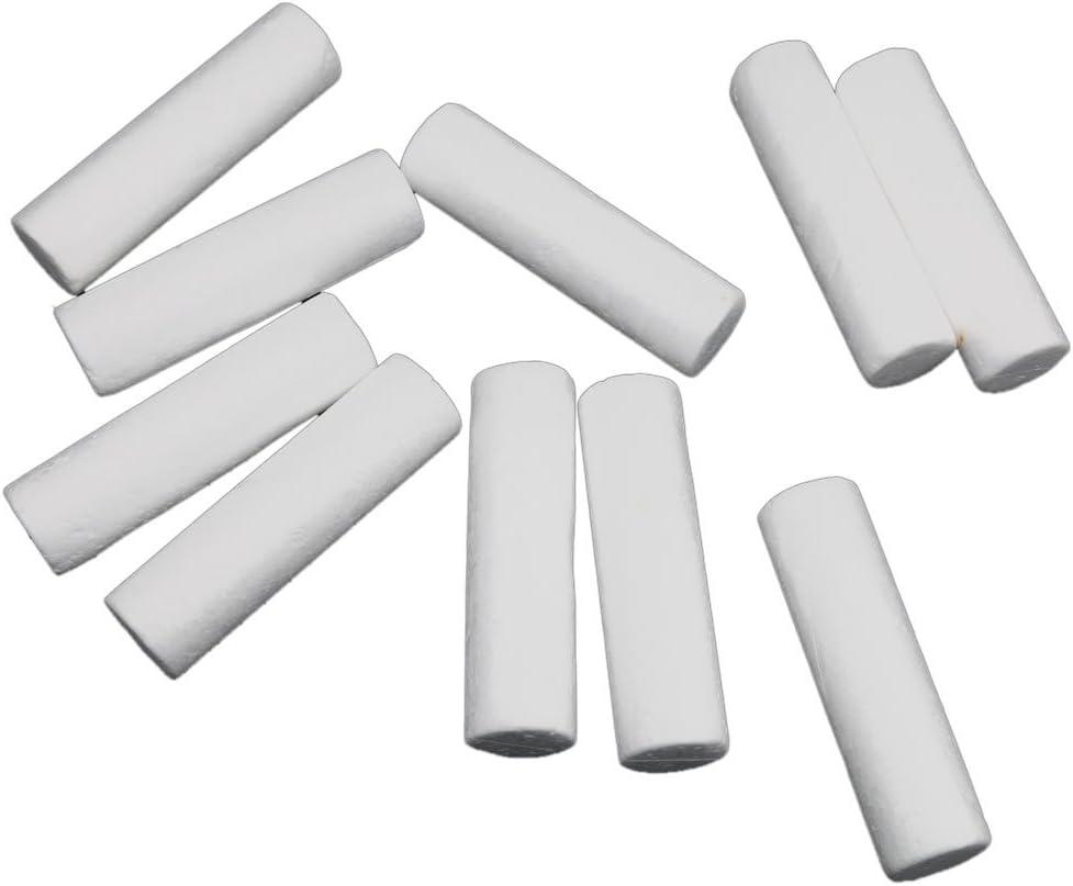 Baoblaze 20pcs White Modelling Craft Polystyrene Styrofoam Foam Cylinder Pillar 12cm