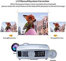 Proyector, Proyectores Full HD LED 3200 Lúmenes 1080P Video Proyector LCD WiMiUS T4 Home Cinema Alta Resolución 1280*800 Altavoz Incorporado con HDMI ...