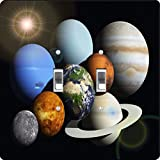 Rikki Knight Solar System Planets Design Double Toggle Light Switch Plate