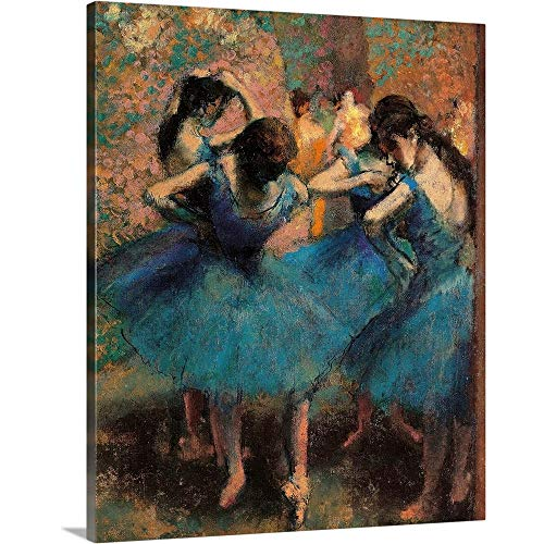 GREATBIGCANVAS Gallery-Wrapped Canvas Entitled Dancers in Blue (Danseuses bleues), by Edgar Degas, ca. 1893. Musee D'Orsay by Edgar Degas ()