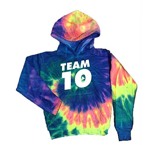 Tie-Dye Kids Hoodie White Design Team 10 Tie Dye