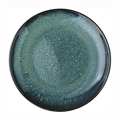 He Xiang Ya Shop Cutlery tray Pasta dish Fruit salad plate Round blue ceramic plate Household flat plate Breakfast plate Steak plate 26.5 cm (10 inches) by He Xiang Ya Shop (Image #7)'