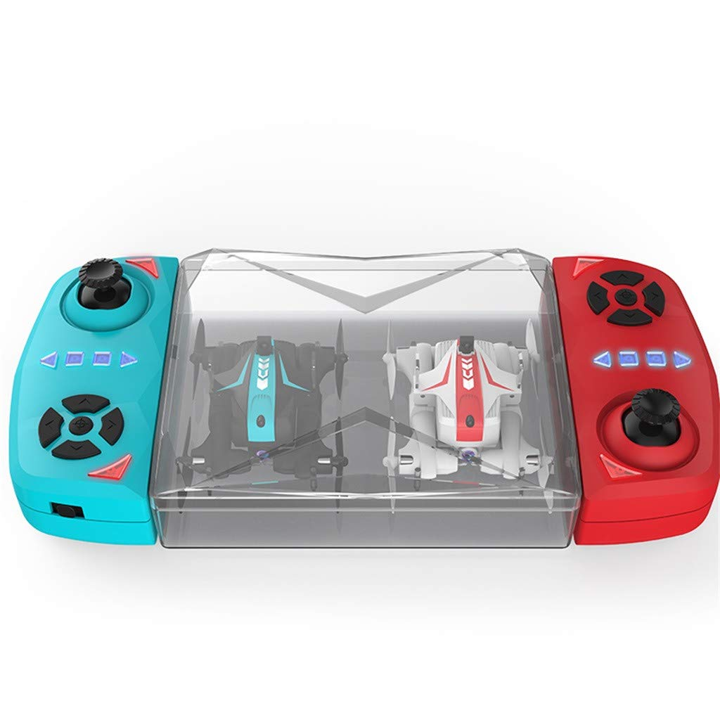 Likero Remote Control Drone AG-03S Foldable 720P Quadcopter,Headless 360 Mini Aircraft Battle Flips (Quadcopter (with Battery) x2)