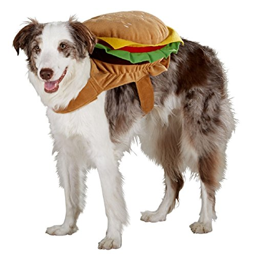 Cheese Hamburger Dog Puppy Rider Dress Up Costume (Large / (Dog Hamburger Costume)
