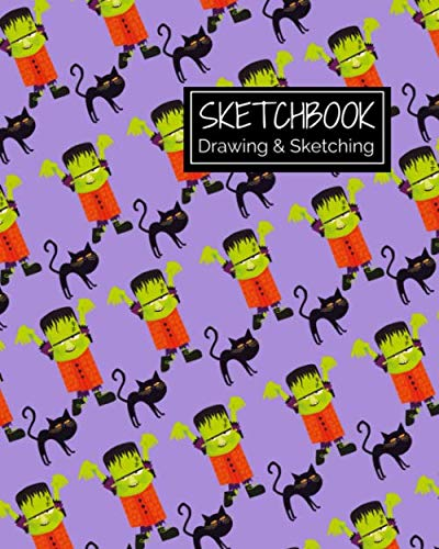 Halloween Ideas To Draw (Sketchbook Drawing & Sketching: Creepy Halloween Themed Sketch Book for Creative Doodling. Spooky Monsters & Creatures  Blank Sketch Paper Notebook for Kids and)
