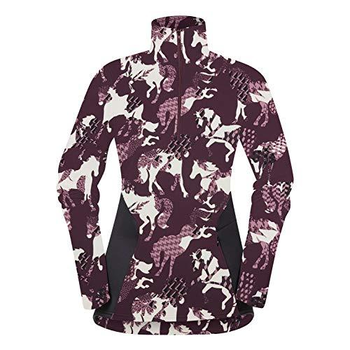 Kerrits Protek Fleece Zip Neck Berry Horseplay Size: Medium