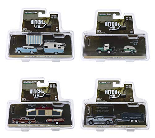 Hitch & Tow Series 16, Set of 4 Cars 1/64 Diecast Models by Greenlight 32160 ()