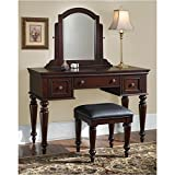 Cheap Home Styles 5537-72 Lafayette Vanity Table and Bench, multi-step Cherry finish