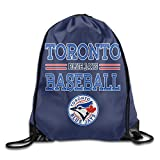DVPHQ New Style Toronto Blue Logo Jays Backpack White