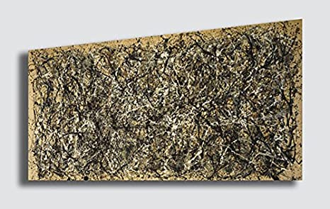 Quadro jackson pollock autunno riproduzione stampa su tela quadri
