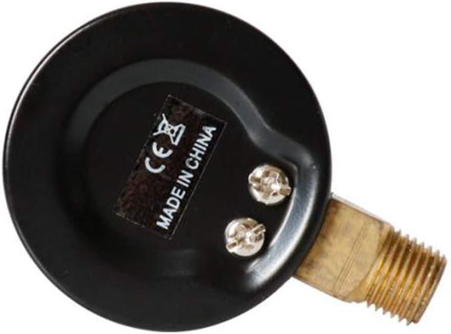 H HILABEE Manometer 1//8 BSPT Anschluss von unten -1-0 bar -30-0 inhg
