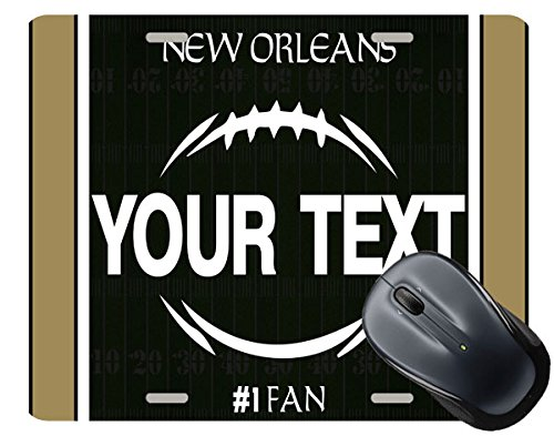 (BRGiftShop Customize Your Own Football Team New Orleans Square Mouse Pad)