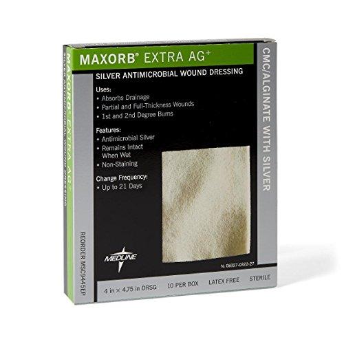 Maxorb Extra AG, Dressing, Alginate, 4X4.75, 10/BX