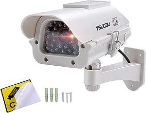 YSUCAU Solar Powered CCTV Security Fake Dummy Camera