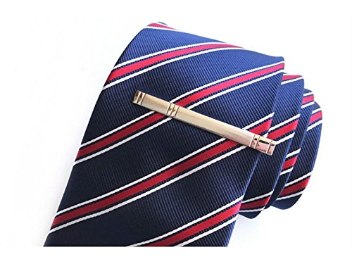 Set for Men DOOUYTERT Tie Classic Tie Vintage Bar Clip Mens Silver for Ties Regular Bar Clip 8a0Xqg