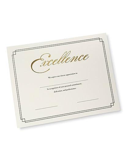 amazon com foil certificate paper gold foil excellence blank