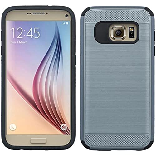 Galaxy S7 Case, Samsung Galaxy S7 [Shock Absorption / Impact Resistant] Hybrid Dual Layer Armor Defender Protective Case Cover for Galaxy S7, Brush Dark Silver Sales