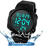 SEEWTA Mens Digital Sports Watch 50M Waterproof Outdoor Alarm Electronic LED Military Wrist Watches
