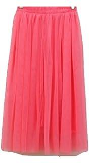 L&L® Women Girls 5 Layers Tutu Petticoat Long Skirt Rockabilly Tulle Goth Ballet Skirt