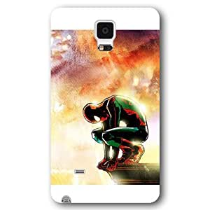 UniqueBox Customized Marvel Series Case for Samsung Galaxy Note 4, Marvel Comic Hero Spider Man Logo Samsung Galaxy Note 4 Case, Only Fit for Samsung Galaxy Note 4 (White Frosted Case)