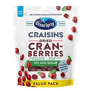 Ocean Spray Craisins Dried Cranberries Reduced Sugar, 20 Ounce