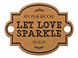 Summer-Ray 48 Personalized Vintage III Landscape Wedding Sparkler Tags Let Love Sparkle (Kraft Brown)