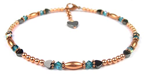 Garnet Jewelry Christmas Gift For Her Birthstone Crystal Jewelry Garnet Crystal Ankle Bracelet Garnet Anklet January Birthstone Anklet