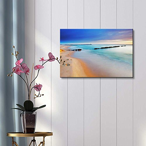Baltic Sea at Beautiful Sunrise in Poland Beach Wall Decor