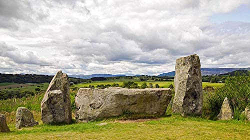 Home Comforts Peel-n-Stick Poster of Stone Circle Dee-tal Aberdeenshire Scotland Old Vivid Imagery Poster 24 x 16 Adhesive Sticker Poster Print