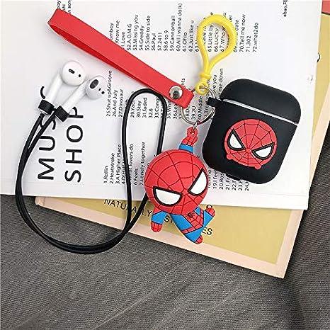 LEWOTE Airpods Carcasa de Silicona Compatible con Airpods de Apple 1 y 2 Dise/ño de Dibujos Ni/ñas o Parejas Spiderman