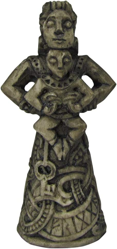 Norse Goddess of the Hearth Frigga Figurine Stone Finish