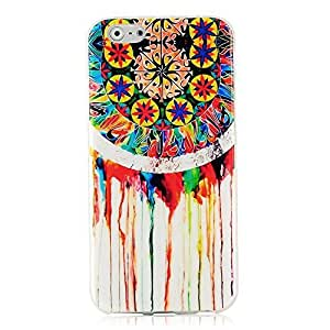 Sunshine Case Fashion Style Retro TPU Cover White Skin Phone Back Cover Shell Protective Shell with Colorful Dreamcatcher Pattern for Iphone6 4.7 Inch