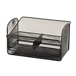 Safco Products 2160BL Onyx Mesh Telephone Stand With Drawer, Black
