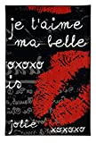 Mohawk Home Aurora Kisses From Paris Printed Rug, 2'6x3'10, Black